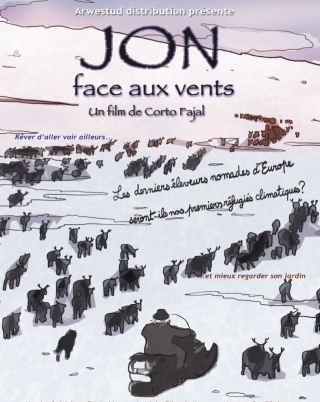 "affiche du film "" jon face aux vents"""